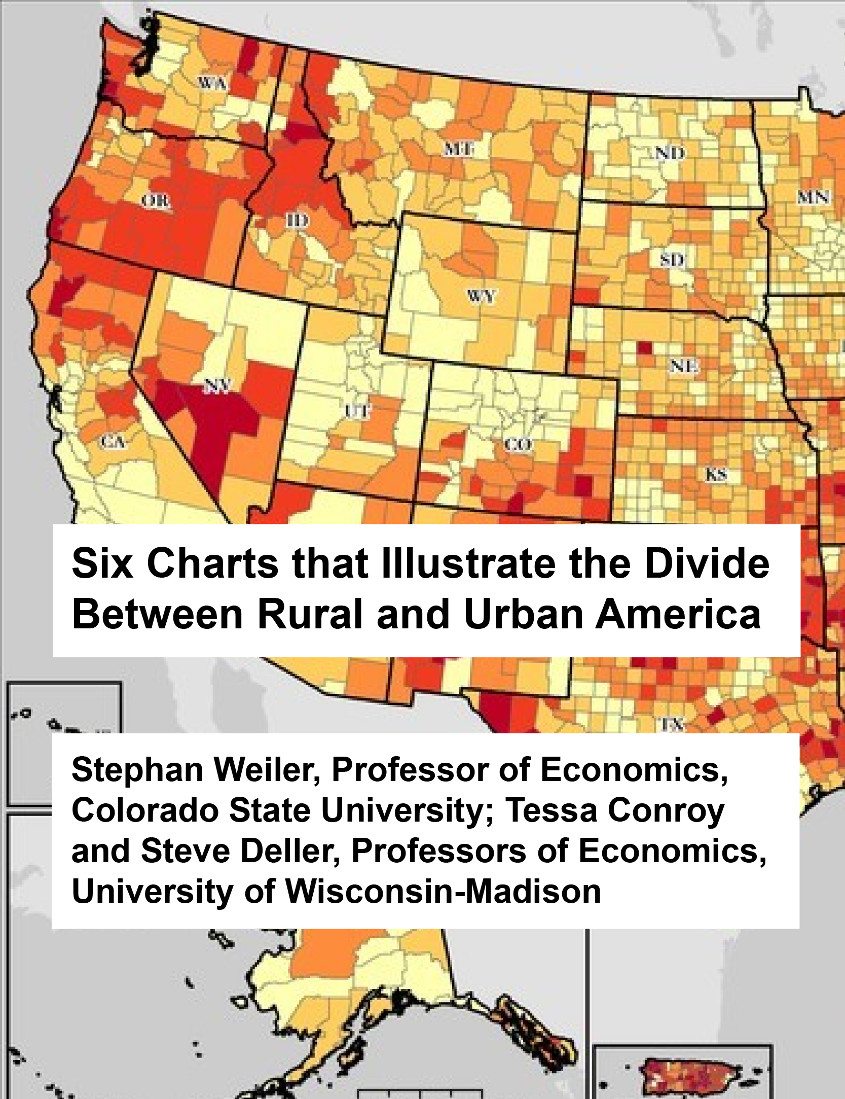 Six Charts that Illustrate the Divide Between Rural and Urban America
