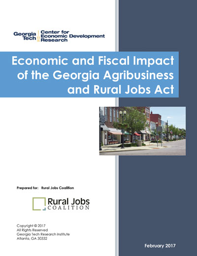 Economic and Fiscal Impact of the Georgia Agribusiness and Rural Jobs Act